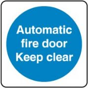 Mandatory Safety Sign - Automatic Fire Door 033